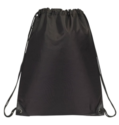 Black Tower Drawstring Bag