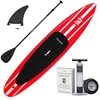 "iRace Red iSUP Package - 126"" Inflatable Touring Red Paddle Board Package"